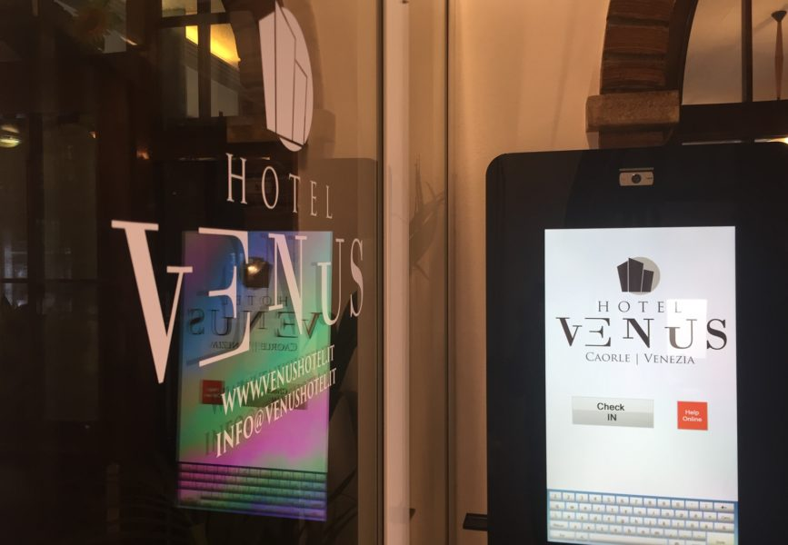 Case History – Hotel Venus Caorle VE – Self check-in/out #smarthotel by eWelcome24